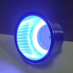 LED12V 青 ステンレス カップホルダー ドリンクホルダー キャンピングカー テーブル 車中泊 車伯 キャンカー 軽キャン バンライフ