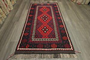 マイマナキリム アフガニスタン トライバルラグ オールド手織りキリム ヴィンテージ 108x197cm #805