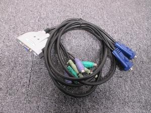 *2 шт.. персональный компьютер . подключение возможность *ELECOM PS/2 персональный компьютер переключатель KVM-KP2* б/у *