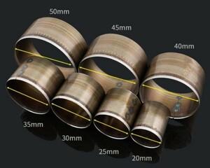 丸型ポンチセット 7サイズ(20/25/30/35/40/45/50mm)レザークラフト