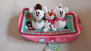 ディズニー ティッシュカバー 未使用 タグ付き ミッキー ミニー ドナルド デイジー クリスマス オラフ ディズニーランド ディズニーシー
