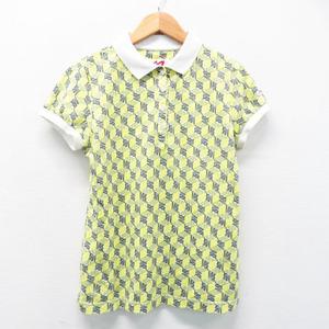 MASTER BUNNY EDITION マスターバニーエディション 半袖ポロシャツ ロゴ総柄 グリーン系 0 [240001373257] ゴルフウェア レディース