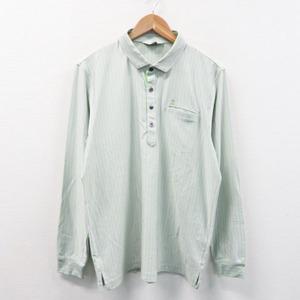 LANVIN SPORT ランバン スポール 長袖ポロシャツ ストライプ ホワイト系 42 [240001387070] ゴルフウェア メンズ