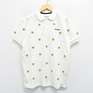 JACK BUNNY ジャックバニー 5周年 ドラえもんコラボ 半袖ポロシャツ ドラ鈴刺繍 ホワイト系 5 [240001429545] ゴルフウェア メンズ
