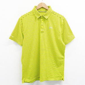 【即決】UNDER ARMOUR アンダーアーマー 半袖ポロシャツ ボーダー イエロー系 LG [240001433454] ゴルフウェア メンズ