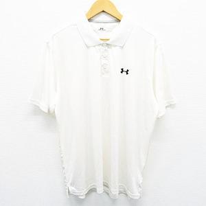 【即決】UNDER ARMOUR アンダーアーマー 半袖 ポロシャツ ホワイト系 XXL [240001443120] ゴルフウェア メンズ