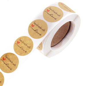 ◆1円スタート◆1000枚入り☆ハンドメイドステッカー♪事務 店舗用品 ラッピング 包装 接着 シール ラベル 手作り クラフト AT9840