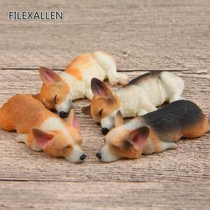 ★1円スタート★ コーギー フィギュア 4個セット かわいい 犬 ペット AT11301