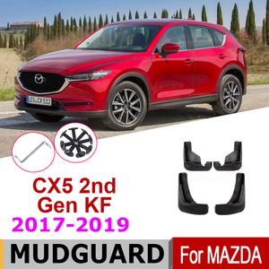 マッドガードマツダCX-5 CX5 2ND世代KF 2020 2019 2018 2017 フェンダー泥フラップガードスプラッシュフラップ車のフェンダーアクセサリー