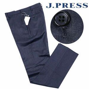 y961a 新品 2万 J.PRESS ジェイプレス ハイランド ペピンメリノ エレガンス パンツ Jプレス ウール スラックス パンツ グレー 36 w80