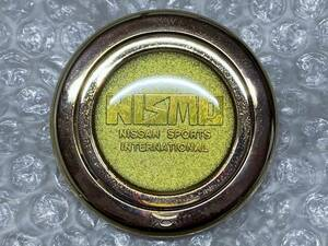当時物♪ NISMO ニスモ ホーン ボタン ゴールド ステアリング ハンドル 日産 旧車 R30 R31 R32 フェアレディZ S30 Z31 Z32 S13 PS13 RPS13