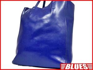 即決★N.B.★オールレザートートバッグ メンズ 青 ブルー 本革 ハンドバッグ 本皮 かばん 通勤 トラベル 出張 カバン 鞄 レディース