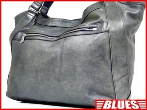 即決★aniary★オールレザートートバッグ アニアリ メンズ ブルー グレー 本革 ハンドバッグ 本皮 かばん 通勤 レディース 出張 カバン 鞄