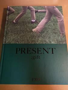 EXO エクソ PRESENT gift 写真集 韓国版 フォトカード付き D01497