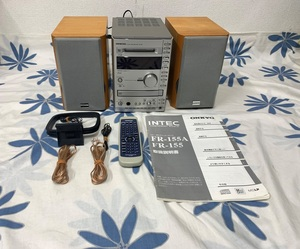 ONKYO オンキョー MD CD コンポ FR-155 リモコンあり 取扱説明書あり スピーカー D-02EX システムコンポ アンプ チューナー
