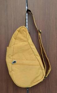HEALTHY BACK BAG ヘルシーバックバッグ ボディバッグ ワンショルダー テクスチャード ナイロン Sサイズ インカゴールド 鞄 かばん