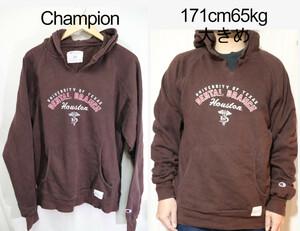 【メンズ】チャンピオンDENTAL BRANCHパーカー/USAブラウンカレッジM