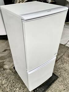 福岡市内送料無料 美品 SHARP シャープ 16年製 137L 2ドア ノンフロ冷凍冷蔵庫 SJ-C14B-W 一人暮らし 単身 学生