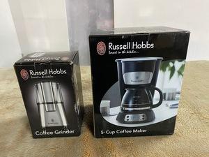 未使用保管品/ラッセルホブス/コーヒーメーカー5カップ 7610JP/グラインダー 7660JP セット