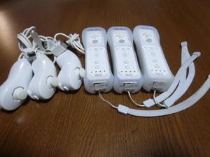 RSJN077【送料無料 動作確認済】Wii リモコン ジャケット ストラップ ヌンチャク 3個セット ホワイト 白 カバー