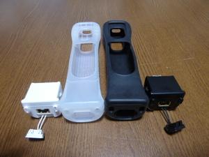 M063【送料無料 動作確認済】Wii モーションプラス ジャケット 2個 セット(分解 クリーニング済)白 黒 NINTENDO 任天堂 純正