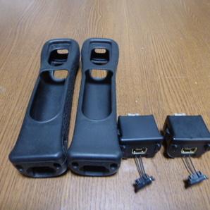 MJ036【送料無料 即日発送】Wii モーションプラス リモコンカバー ジャケット 2個セット ブラック(クリーニング済)黒