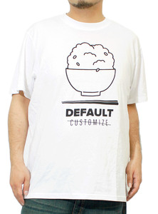 【新品】 4L ホワイト Tシャツ メンズ 大きいサイズ 半袖 プリント デザイン クルーネック カットソー