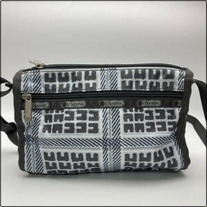 rm) LESPORTSAC レスポートサック ショルダーバッグ ワンショルダー ミニバッグ 柄 ナイロン グレー系 鞄 ※中古