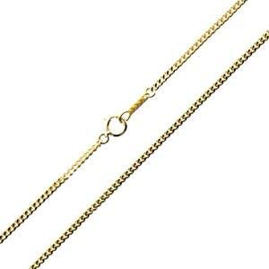 喜平ネックレス 2面シングル チェーンネックレス K18 18金 YG 造幣局検定マーク 首周り約59.7cm 約10.0g NT 磨き仕上げ品