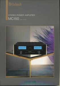 McIntosh MC150のカタログ マッキントッシュ 管4227