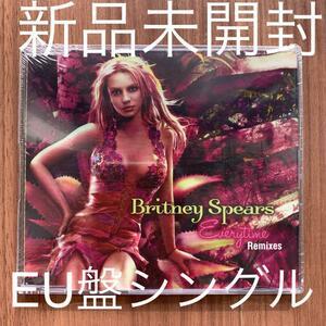 Britney Spears ブリトニー・スピアーズ Everytime Remixes EU盤シングル 新品未開封