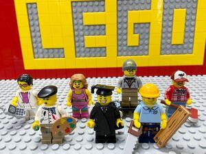 ☆住民☆ レゴ ミニフィグ 画家 大工 学生 エアロビクス など ( LEGO 人形 ミニフィギュアシリーズ