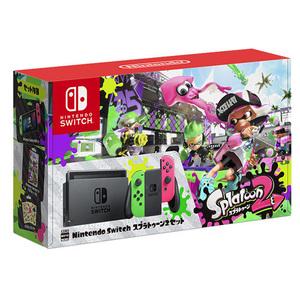 匿名送料無料☆未開封★任天堂 Nintendo Switch スプラトゥーン2セット 本体同梱版 即決!2018年3月再生産 特典付☆イカすスタートガイド