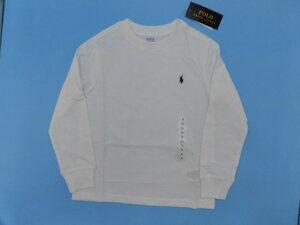 *[ new goods ] Ralph Lauren long sleeve T shirt Kids white white 115*