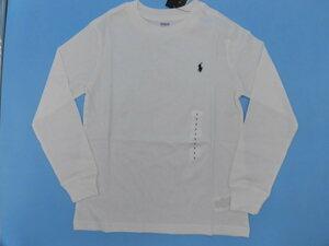 *[ new goods ] Ralph Lauren long sleeve T shirt Kids white white 130*