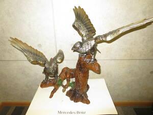 金属製 鷹 置物 タカ 鷲 ワシ 松鷹 松 オブジェインテリア飾り物工芸品縁起物アンティーク