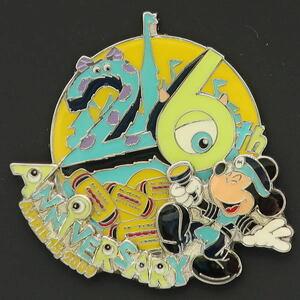 ディズニー ミッキー TDL26周年ピンバッジ 東京ディズニーランド26周年記念 2009年 新品