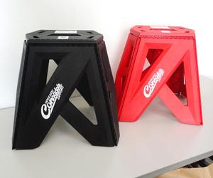 北海道 コンサドーレ札幌 オフィシャルグッズ バタフライスツール(赤/黒/大)2個セット 折りたたみ 踏み台 ステップ 椅子 札幌市
