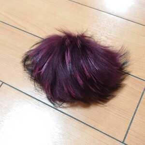 ★コサージュ 毛皮 ファー ブローチ アクセサリー チャーム 赤系 ピンク 紫