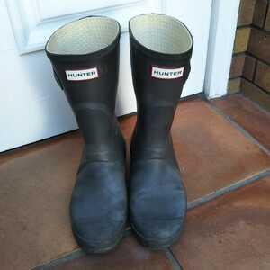 HUNTER レインブーツ 長靴 レインブーツ メンズ ハンター UK7 US8M 9F EU40/41 25 25.5 オリジナルショート