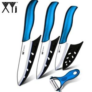 セラミックナイフ 3 ペアリング 4 ユーティリティ 5 スライスナイフ 1 ブルーハンドル + 白バルデピーラー ナイフセット