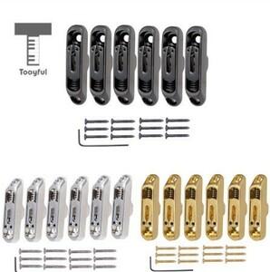6個セット ブリッジ サドル テール ネジ レンチセット 6 弦 エレキギター 部品