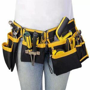 工具腰袋/工具/収納/ウエストポーチ/工具差し/大容量/多機能/道具袋/ドライバー入れ/レンチ入れ/工具入れ/DIY