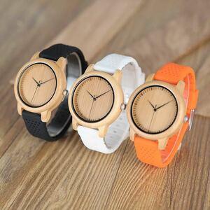 ボボバード レロジオ masculino 腕時計女性ブランド竹男性腕時計シリコーンバンドクォーツ ホワイトストラッ