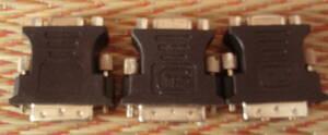 ★VGA-DVI変換アダプタ D-Sub 15pin(F) - DVI-I 29pin(M) 3個セット★送料無料!