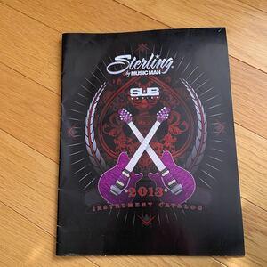 エレキギター ベース カタログ 楽器店スタンプあり ステアリング ミュージックマン 2013 神田商会 ジョンペトルーシ