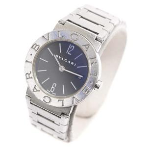 即決 ブルガリ ブルガリブルガリ 腕時計 レディース クオーツ ブラック文字盤 シルバー BB26SS