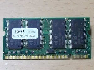 ** Junk PC parts ** CFD DDR-333 PC2700 512MB 200pin/ exhibition hour operation verification goods -MD03