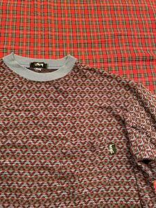 STUSSY TEE ステューシー ニット ポケット Tシャツ 80年代 ヴィンテージ 黒タグ MADE IN USA OLD STUSSY オールドステューシー LARGE