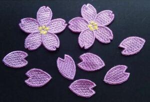 桜刺繍ワッペン